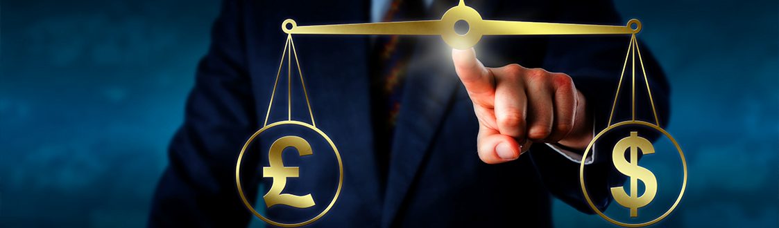 Investor trading the British pound sterling at par with the Dollar